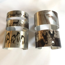 "Load image into Gallery viewer, ""Sunrise""  Aluminum Cuff Bracelet."