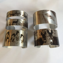 "Load image into Gallery viewer, ""Mountain Man""  Aluminum Cuff Bracelet."