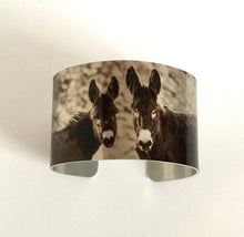 "Load image into Gallery viewer, ""Brunettes"" Aluminum Cuff Bracelet."