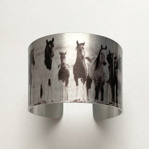 """The Wild Ones"" Aluminum Cuff Bracelet."