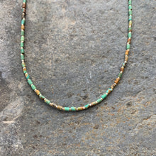 Load image into Gallery viewer, Turquoise Heishi beaded necklace.