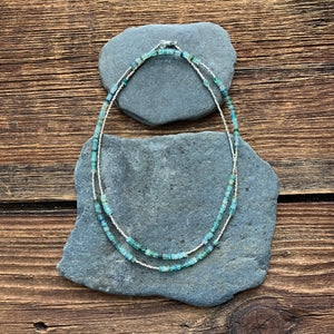 Greek sea glass necklace with options.