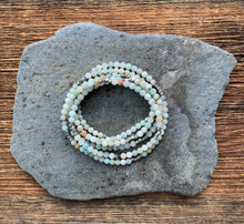 Load image into Gallery viewer, Amzonite beaded necklace with options.