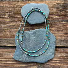 Load image into Gallery viewer, Turquoise hand cut beaded necklace.