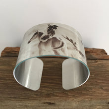 Load image into Gallery viewer, Horse jewelryWild Horse Aluminum Cuff Bracelet.North Dakota Wild Horses.