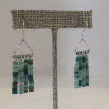 Load image into Gallery viewer, Ancient glass beads dangle earrings.Greek glass beads