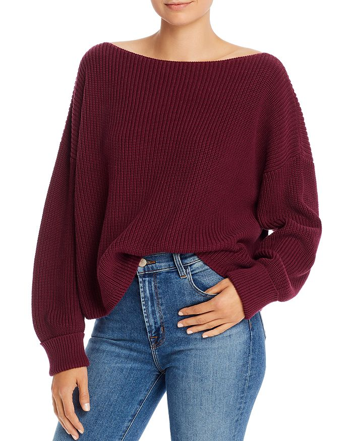 French Connection Millie Mozart Waffle Knit Sweater