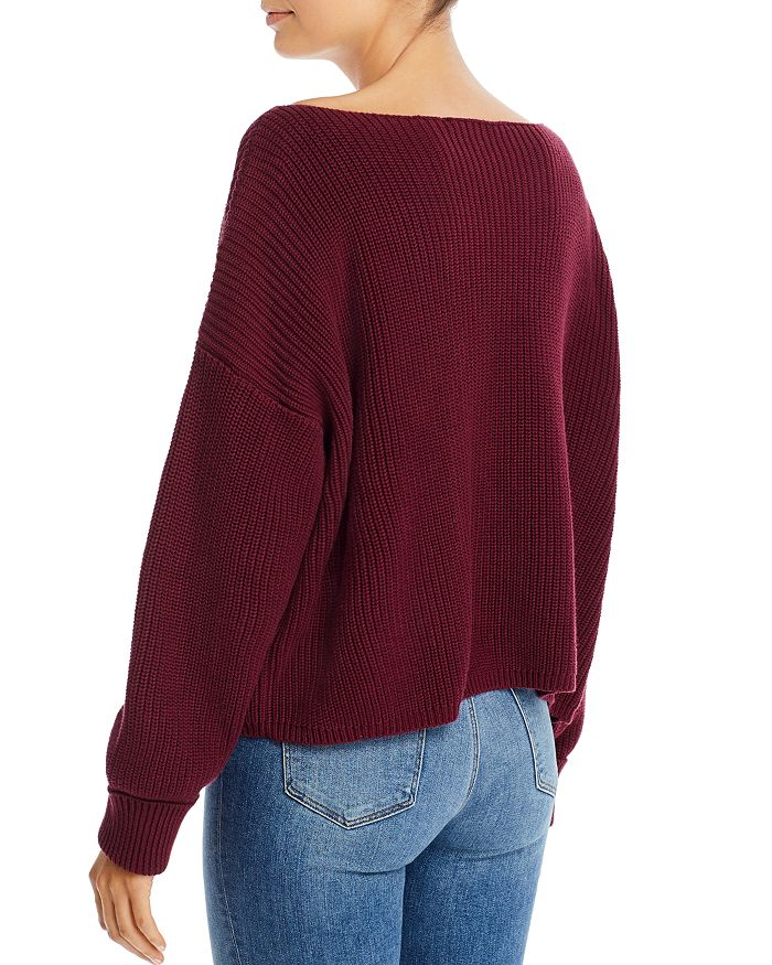 French Connection Millie Mozart Waffle Knit Sweater back