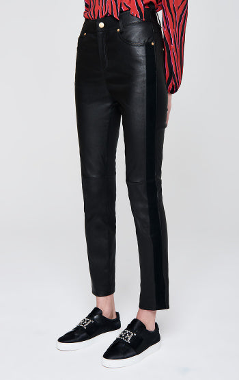 Escada Sport Leather Pants in Black