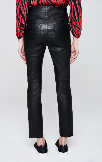 Escada Sport Leather Pants in Black back