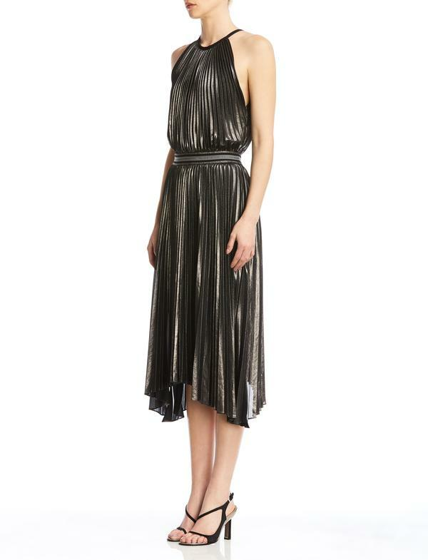 Bailey 44 Madison Dress in Gun Metal and Black side