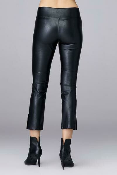 David Lerner Gemma Midrise Vegan Leather Pants in Black back