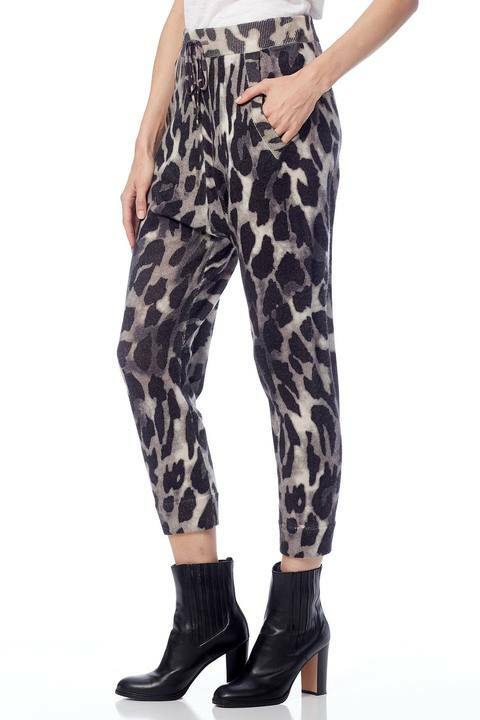360 Sweater Clarissa Leopard Print Pants side