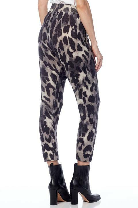 360 Sweater Clarissa Leopard Print Pants back