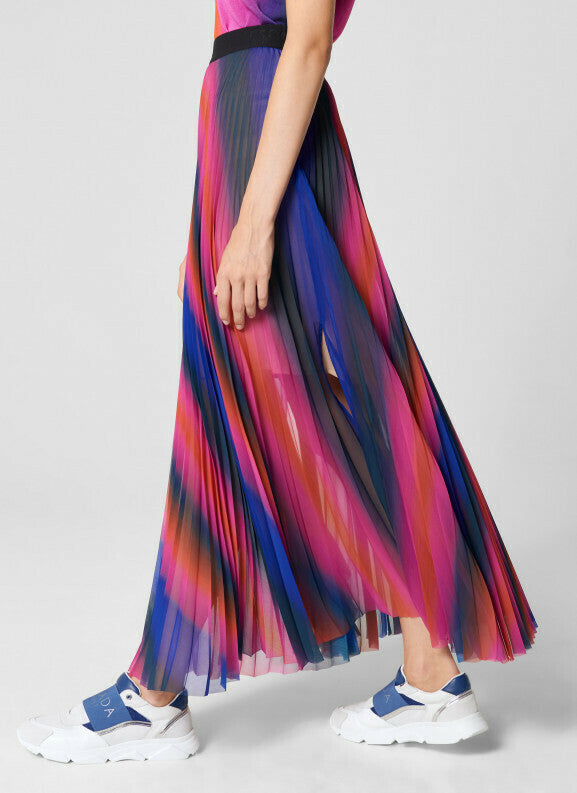 Escada Plisse Maxi Skirt in Multicolrs side