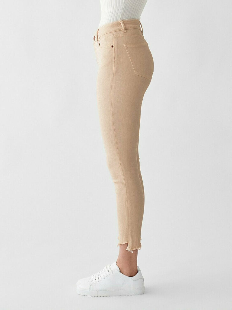 DL 1961 Florence Crop Mid Rise Skinny in Vacarro side