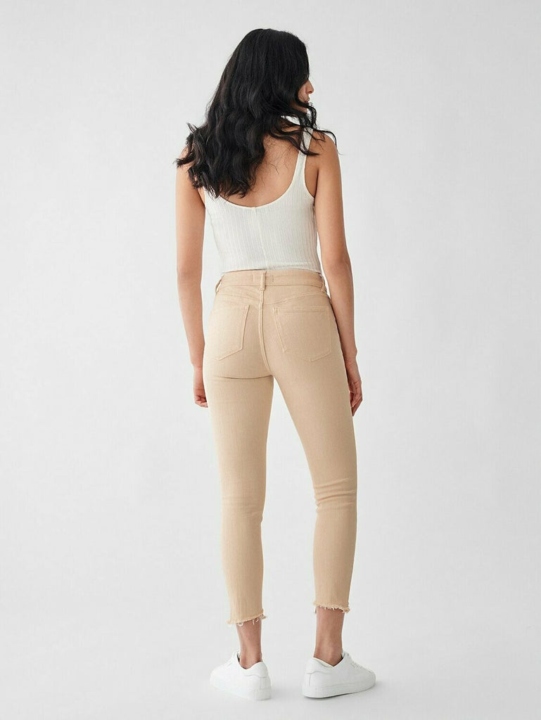 DL 1961 Florence Crop Mid Rise Skinny in Vacarro back