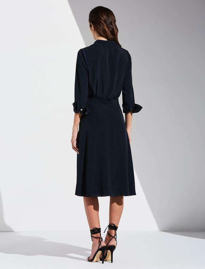 Bailey 44 Georgia Shirt Dress in Twilight back