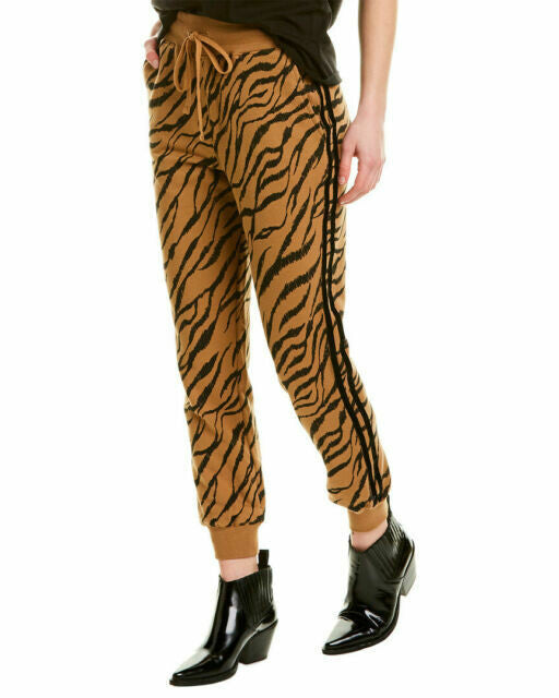 David Lerner Kendal High Rise Jogger in Tiger Stripe