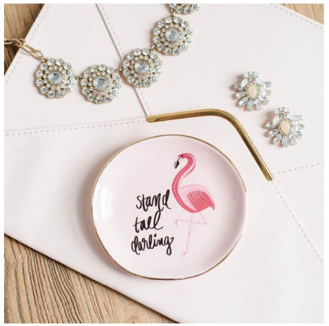 SWD Flamingo Stand Tall Darling Trinket Dish