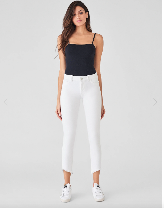 DL 1961 Florence Cropped Jean Mid Rise Instasculpt Skinny in Santa Fe model