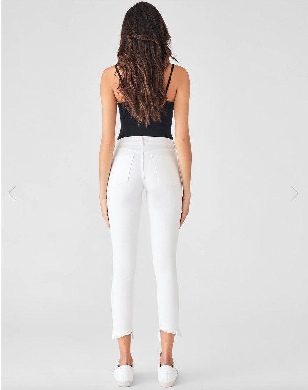 DL 1961 Florence Cropped Jean Mid Rise Instasculpt Skinny in Santa Fe back
