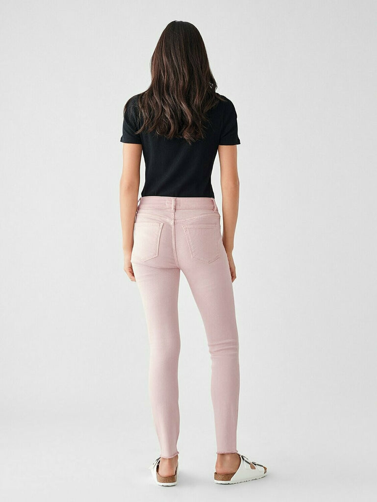 DL 1961 Florence Ankle Mid Rise Skinny In Camellia back
