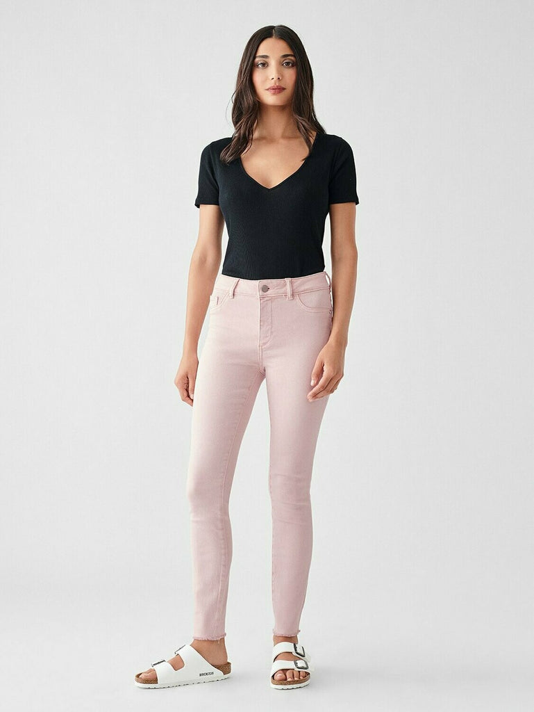 DL 1961 Florence Ankle Mid Rise Skinny In Camellia model