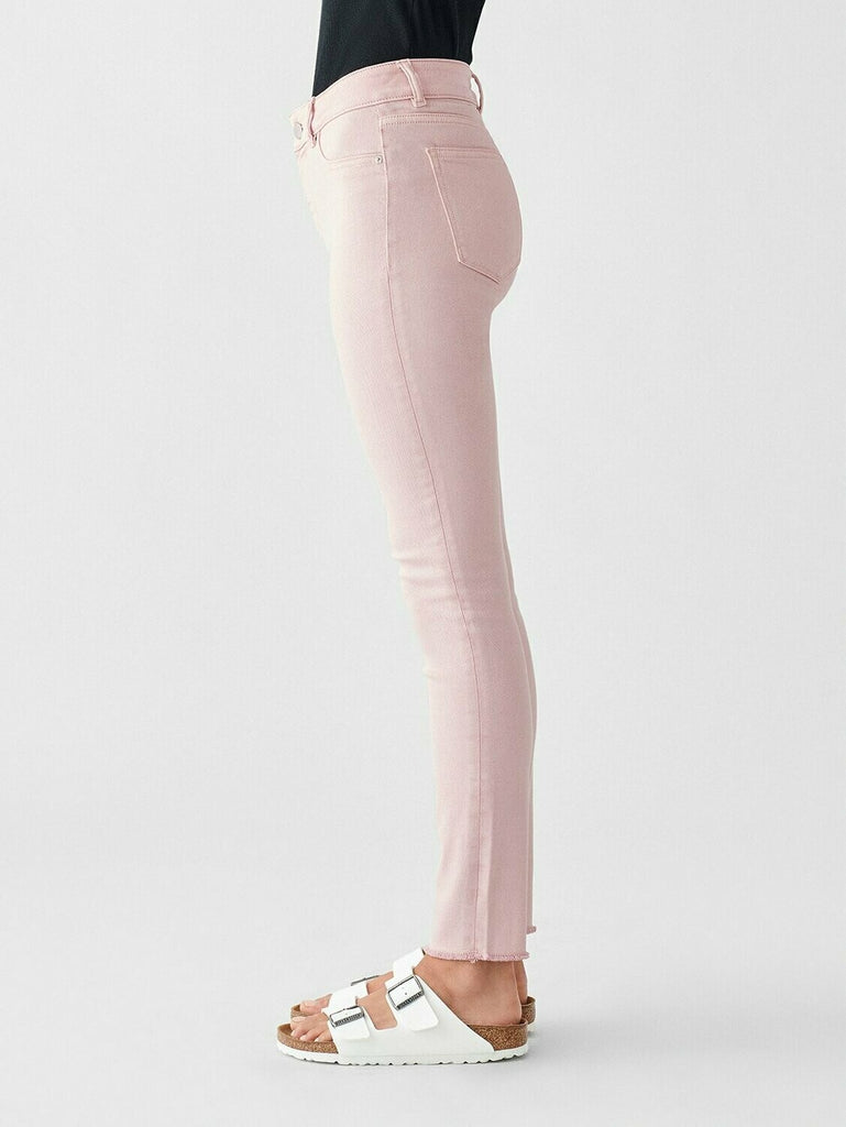 DL 1961 Florence Ankle Mid Rise Skinny In Camellia side view