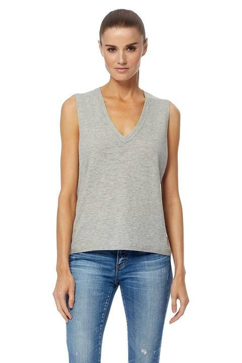 360 Sweater Percy Tank in Heather Grey front