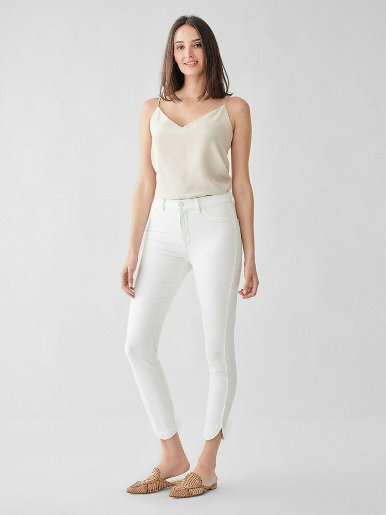 DL 1961 Farrow Cropped High Rise Skinny Jean in Quill model