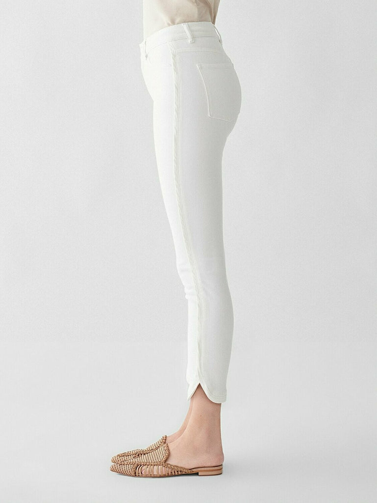 DL 1961 Farrow Cropped High Rise Skinny Jean in Quill side view