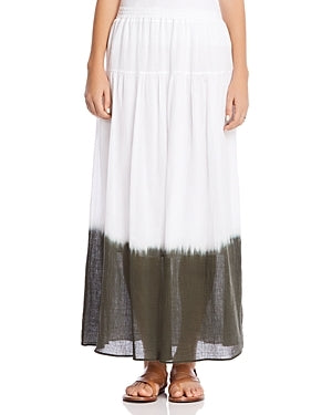 Bailey 44 Monsoon Skirt in White and Palm close up