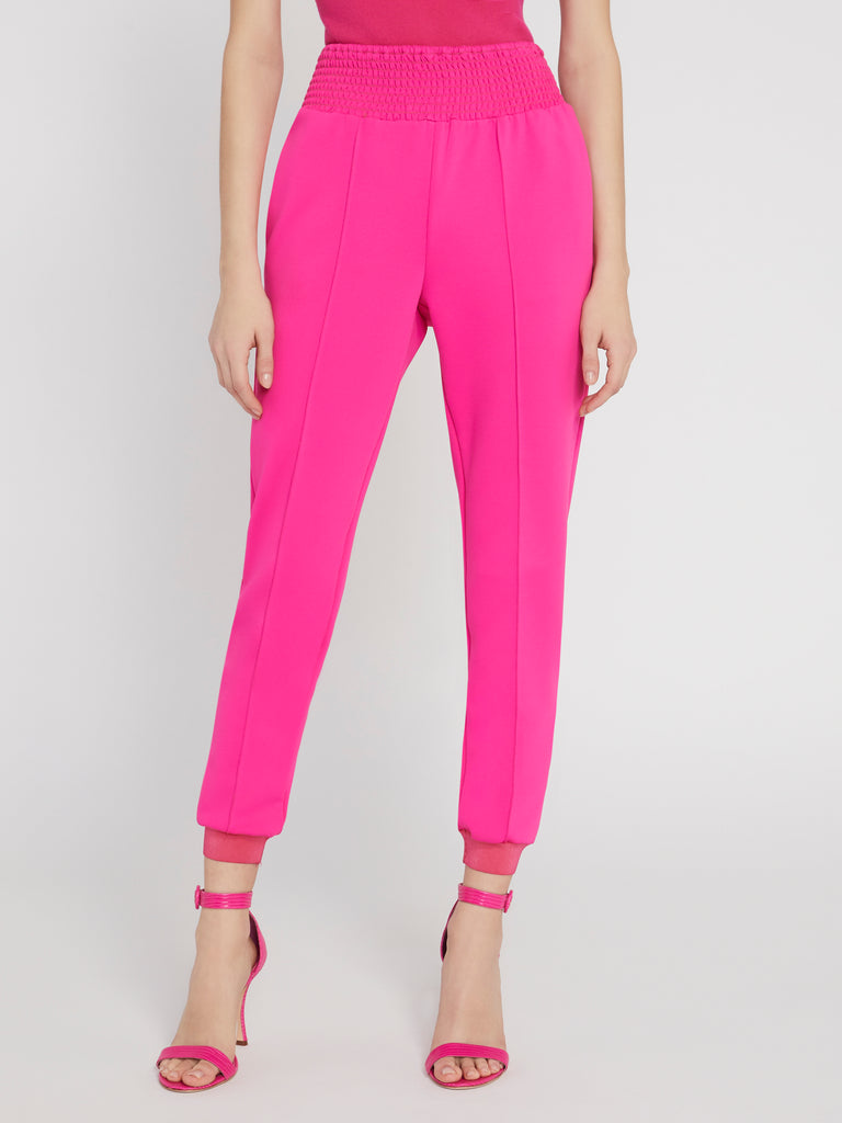 Alice & Olivia Ramora Skinny Jogger In Wild Pink close up