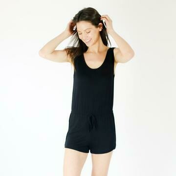 Six Fifty Tank Romper In Black