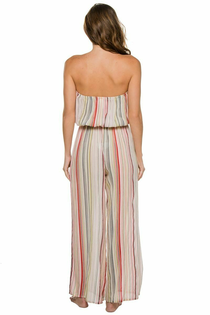 Elan Romper Coulotte In Multi Stripe back