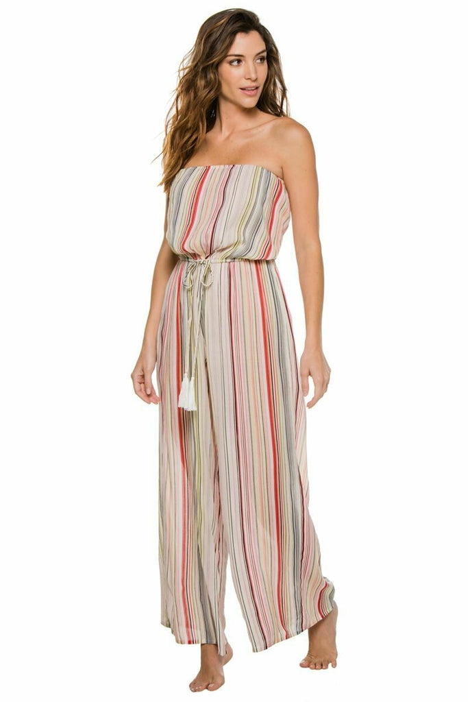 Elan Romper Coulotte In Multi Stripe