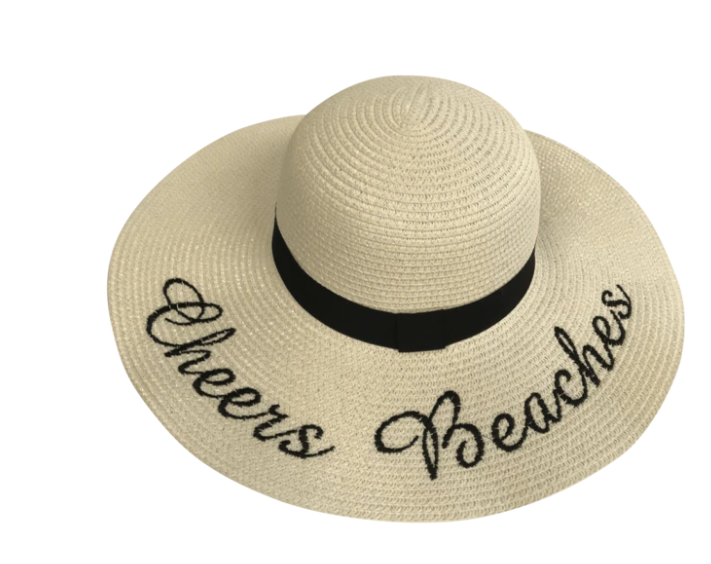 Cheers Beaches Floppy Sun Hat in Ivory