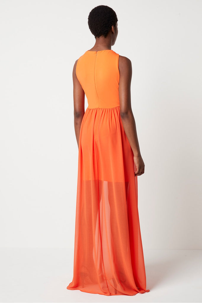 French Connection Panthea Jersey Twist Halter Maxi Dress back