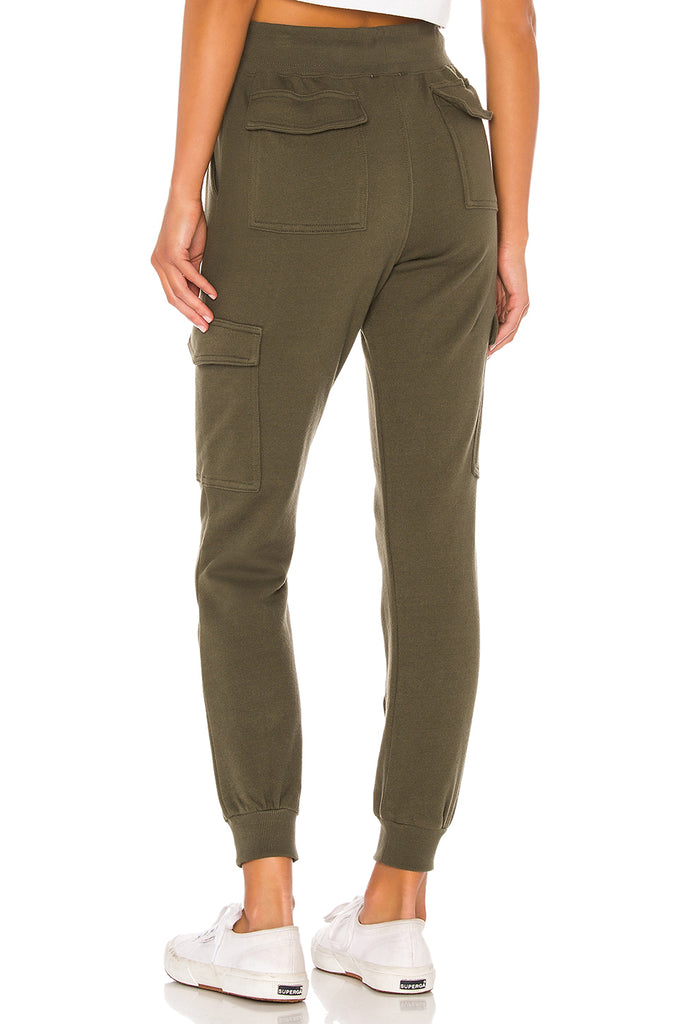 David Lerner High Rise Cargo Jogger back