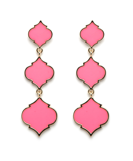 Fornash Triple Spade Earrings Bubble Gum
