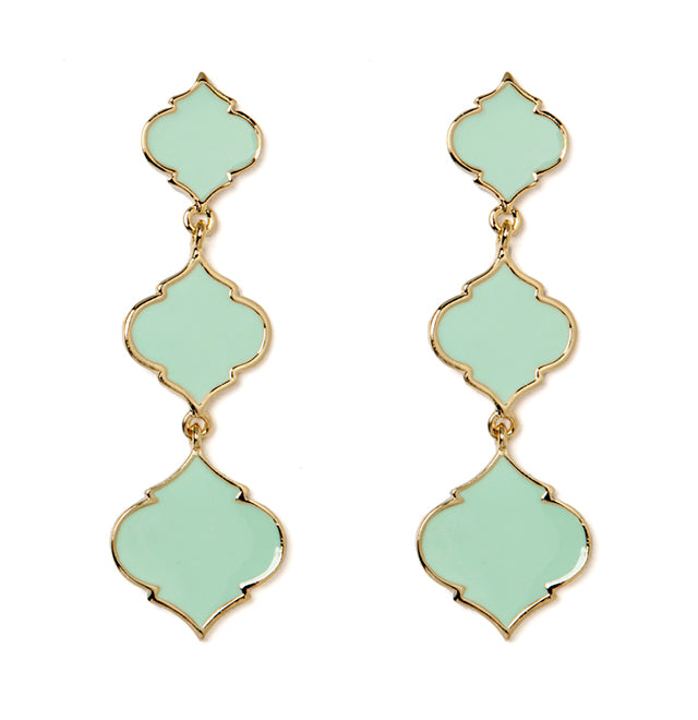 Fornash Triple Spade Earrings Turquoise