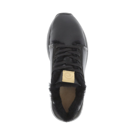 Ms. SNUG Low, Black Leather on Black Sole