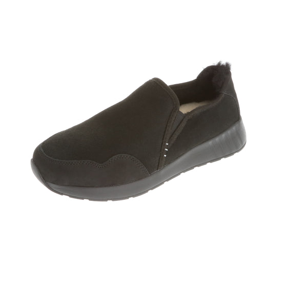 Ms. SNUG SlipOn, Black on Black Sole