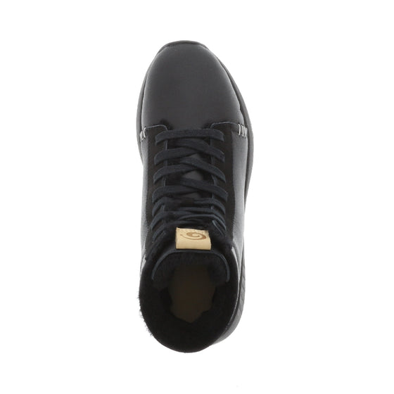 Ms. SNUG High, Black Leather on Black Sole