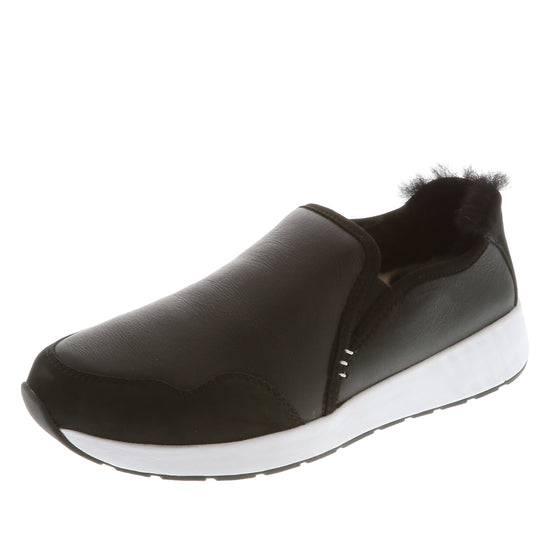 Mr. SNUG SlipOn, Black Leather