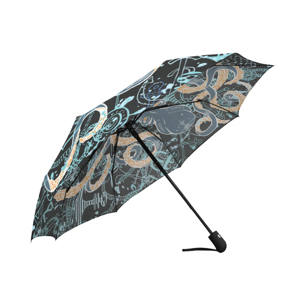 Octopus and Anchors Auto-Foldable Umbrella (Model U04)
