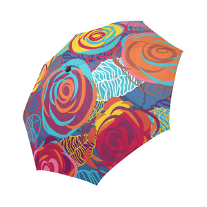 Colorful Roses Auto-Foldable Umbrella (Model U04)