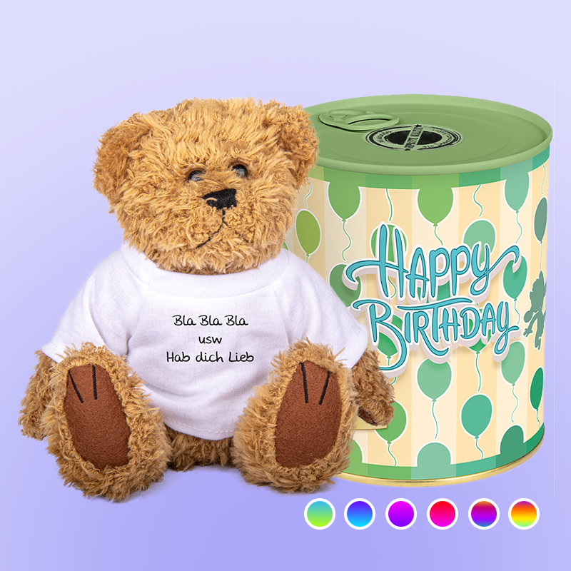 Happy Birthday Dose Plüschtier Teddy (5673198092453)