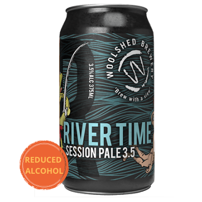 Wilkadene Woolshed River Time Session Pale Ale | 24 x 375ml Can Carton | 3.5% ABV